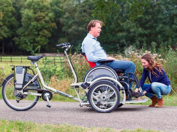Bicicleta Velo Plus para transportar a personas con discapacidad